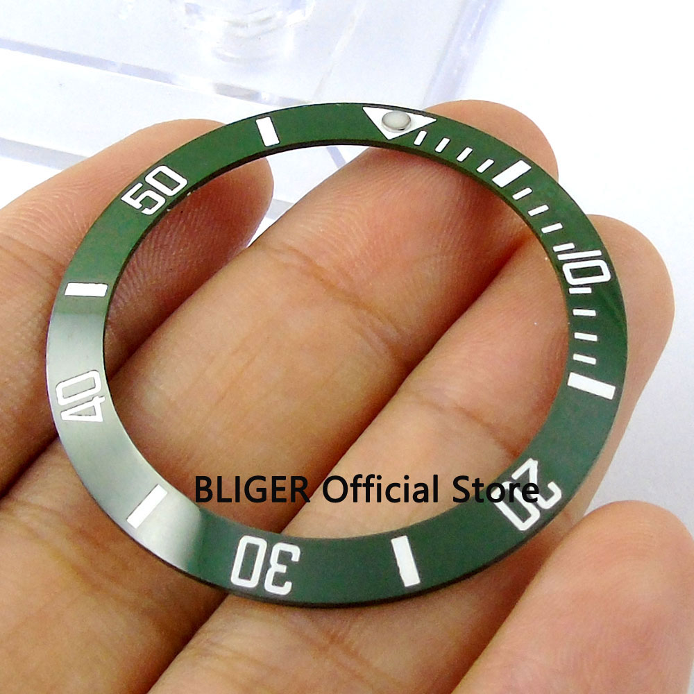 38mm Olive Green Ceramic Bezel Insert Fit 40mm Watch Case SUB Automatic Watch Men's Watch Made By BLIGER Factory BB8