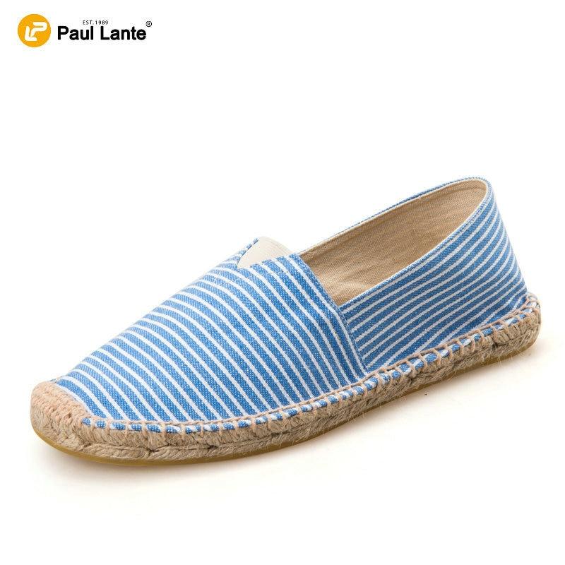 2016 Verano Ocasional de la Lona de Yute Natural Plantilla Zapatos Planos de Los Hombres Y
