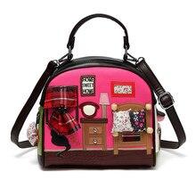 51e66c0121ae SJ для женщин кожа сумки на плечо женская сумка мужская тотализаторов  Braccialini бренд стиль ремесленных мультфильм