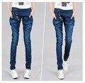 Novo 2016 Coreano Moda das calças de Brim Das Mulheres Casuais Calças Harém Calças Soltas Magros Denim Jeans Calças Lápis Das Mulheres Plus Size solto LY393