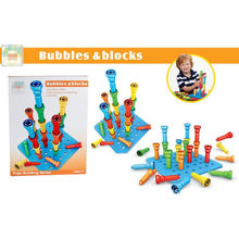 Plastic Screw Assembly Toys Nut Eduational Brain Training Play Multiple Assembly Building Block Gift For Kids Bubbles & Blocks(China)