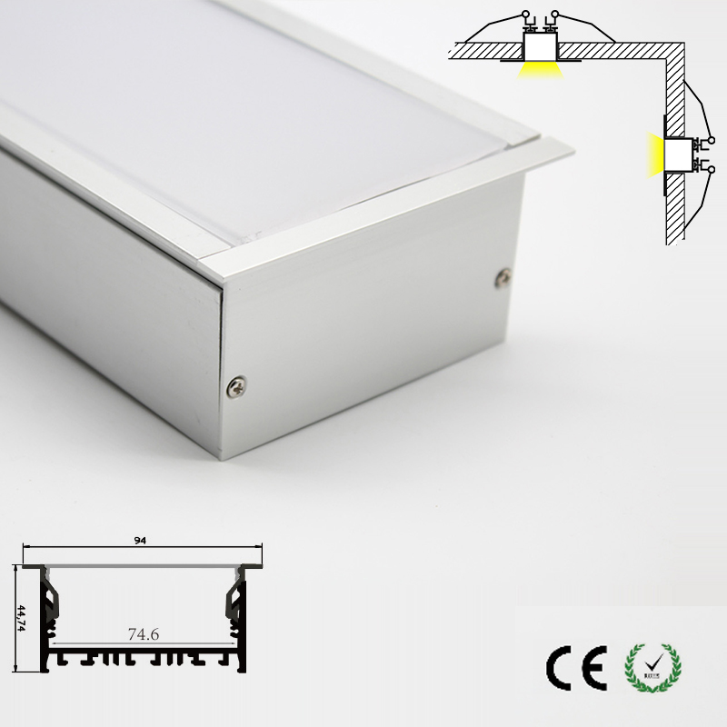 Modern indoor decoration led lighting accessory kitchen lamp cabinet lamp opal lamp cover led aluminum channel quality fast ship