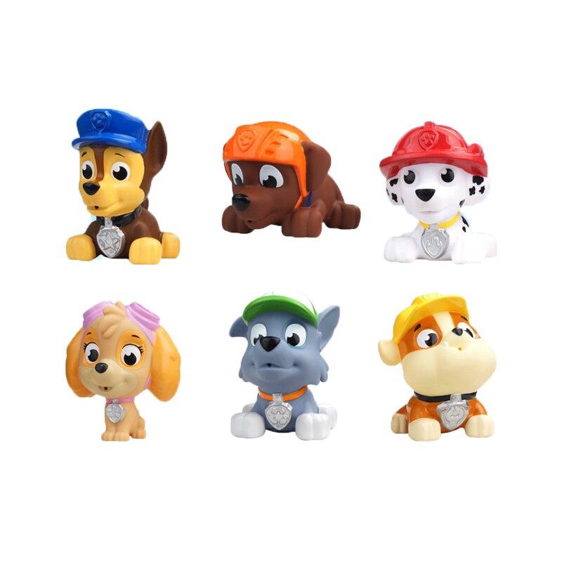 6 unids/lote Bath Toy Patrulla Canina En Stock Ruso España Kid Toy Cachorro perr