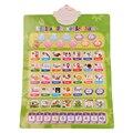 Russa Máquina de Aprendizagem de Inglês Eletrônico Brinquedo Da Música Do Bebê Do Alfabeto Gráfico Fonético Cedo Educacional Idioma Toy Som