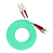 3m (10ft) SC UPC to ST Duplex OM3 Multimode PVC (OFNR) 3.0mm Fiber Optic Patch Cable