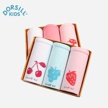 Dorsill Новая Мода девушки Underwear Мягкие и Удобные Дышащие Брюки для Детей 100% Хлопок коробка 3 полосы трусы
