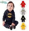 Bebé niño niña ropa de Diseñador Otoño Nueva Algodón de Batman de los niños uno junta las piezas de Los Mamelucos Del Bebé de Los Mamelucos Lindos Monos Infantiles YAZ002