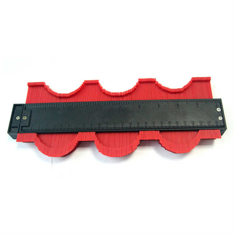 250mm תבנית עקמומיות בקנה מידה שליט קונטור-מד רבד שטיח עץ אריח פרופיל למדוד שליט עם מגנט עמיד