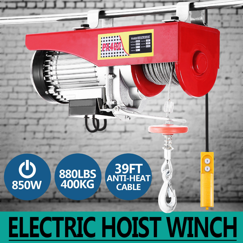 100kg~900kg Electric Hoist Winch Lifting Engine Crane Ceiling Wire Motor Steel[200/400KG]