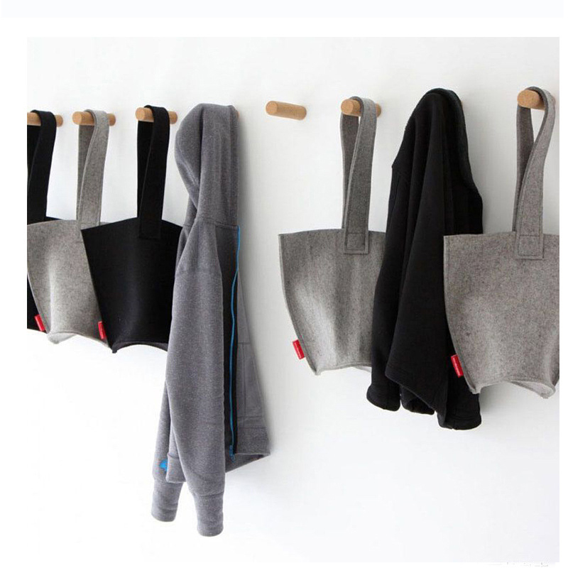 Natural Wood Clothes Hanger Wall Mounted Coat Hook Decorative Key Holder Hat Scarf Handbag Storage Hanger Bathroom Rack Hooks Bathroom Hardware Bathroom Shelves
