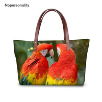 Nopersonality Colorful Parrot Handbags 3D Animal Print Women's Bag Large Capacity for Daily Shopping Travel Top handle Bags