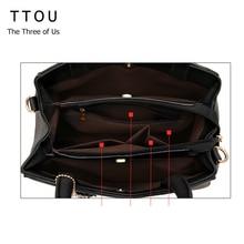 TTOU Women Tassel Pendant Handbag Water Droplets Sequined Messenger Bag High Capacity Shell Shoulder Bag Female