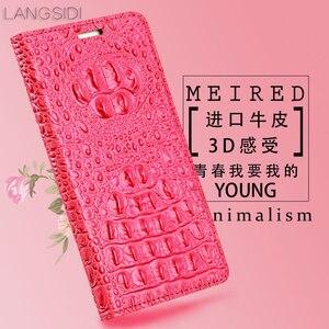 Image 5 - Wangcangli genuíno caso telefone flip de couro de Crocodilo textura de volta Para Gionee GN5002 All caso do telefone artesanal