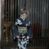 Japanese kimono traditional dress cosplay female yukata women haori Japan geisha costume obi kimonos woman 2018 KK2246