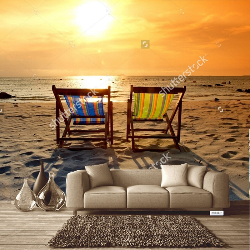 Beach wallpaperbeach chair on the beach with sunsetnatural scenery