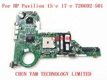 720692-501 Pour HP Pavilion 15-e 17-e Mère D'ordinateur Portable DA0R75MB6C0 REV: C 720692-001 mainboard 100% Testé 90 Jours de Garantie