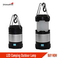 Uranusfire LED USB Rechargeable Collapsible Outdoor Lantern Lighting 18650 Portable Hand Lamp Camping Hiking Light Flashlight