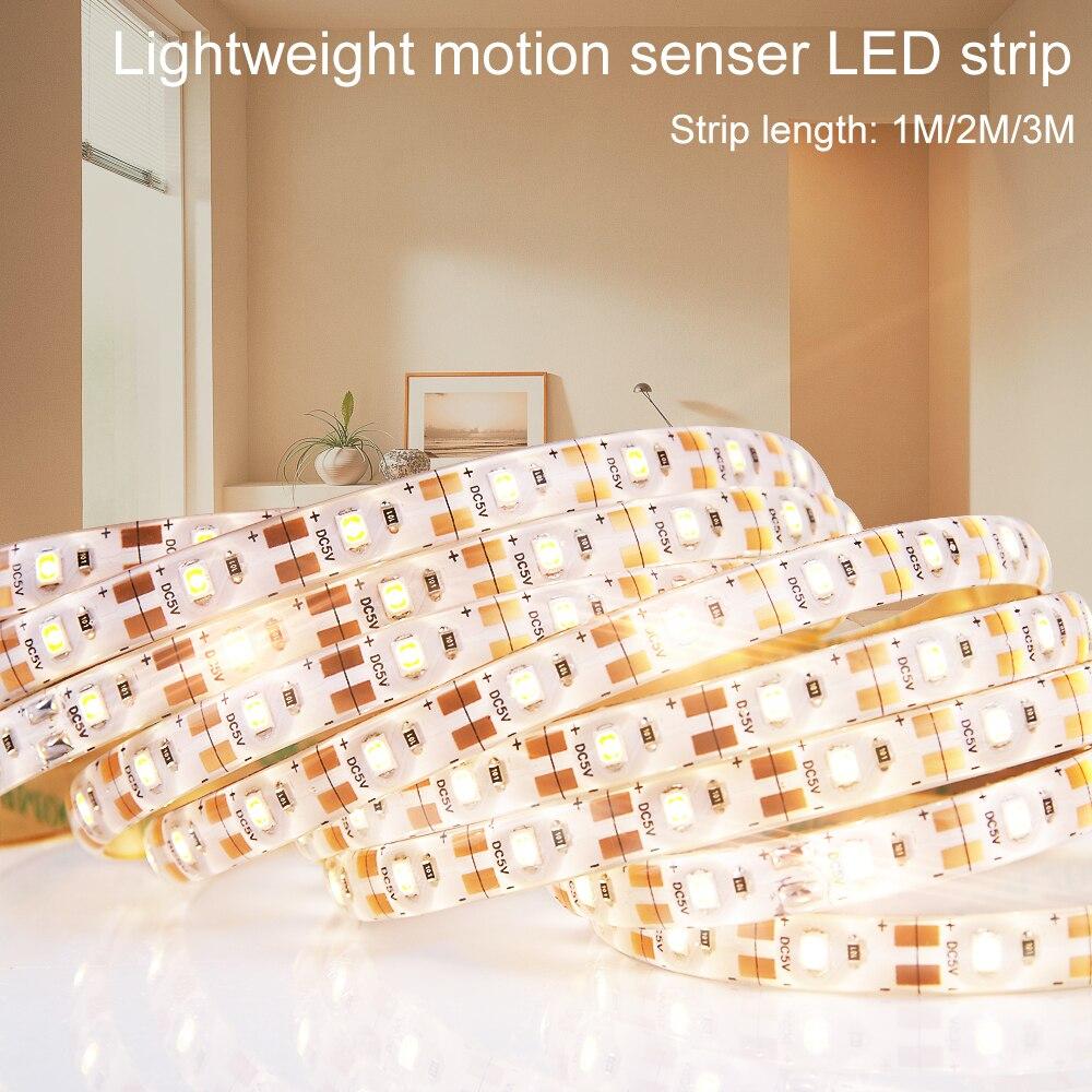 Wenni Cabinet Led Light Motion Sensor Led Night Lamp Pir Led Strip Light Waterproof 5v Wardrobe Lamp Tape Tv Background Lighting Lights & Lighting