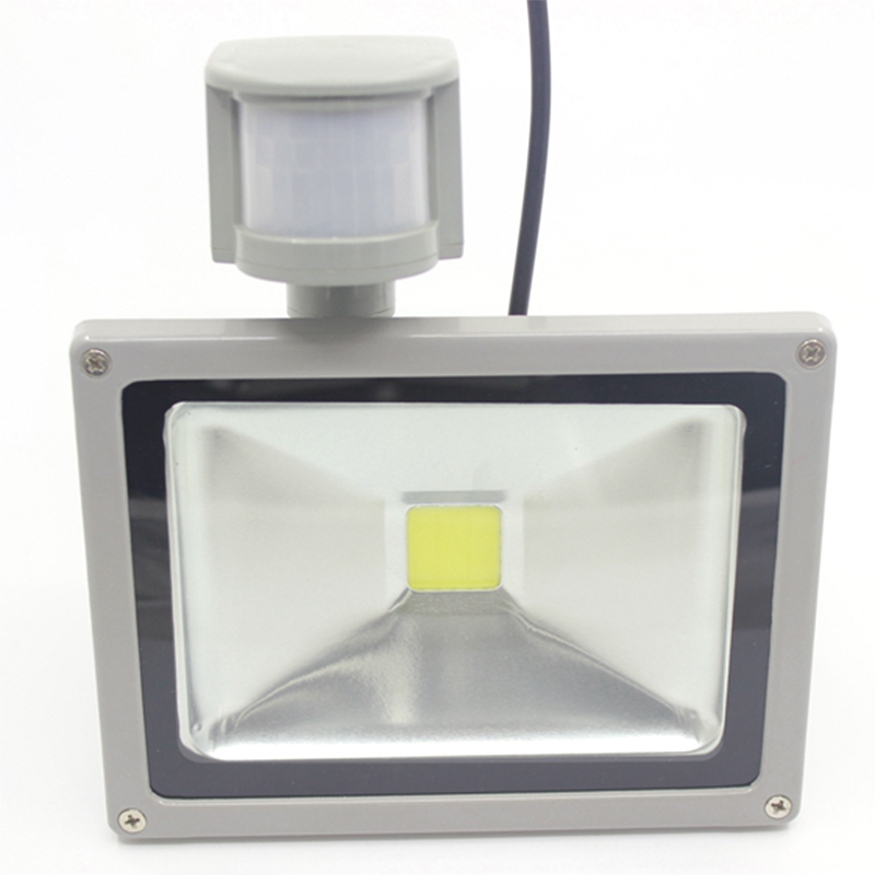 12V Input PIR LED flood light 20W for Solar system with Motion Sensor Time Lux adjust free shipping to Russia UK Spain Chile