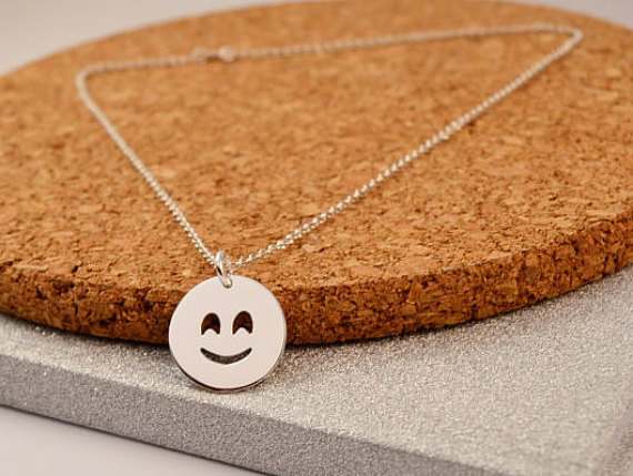 Happy Face Emoticons Necklace Jewelry Smile Emoticons Pendant Handmade Pendant Necklace Jewelry YLQ0472