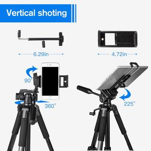 Image 4 - 55inch Phone/Camera Tripod Professional Portable Travel Aluminum Tripode with Phone Holder for iPhone iPad Mobile Dslr Movil