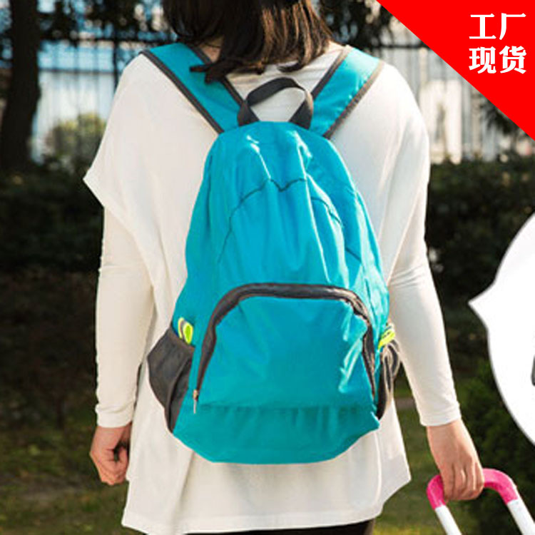 2016 Lightweight Portable Travel Backpacks Zipper Soild Nylon Back Pack Daily Traveling Women men Shoulder Bags Folding Bag