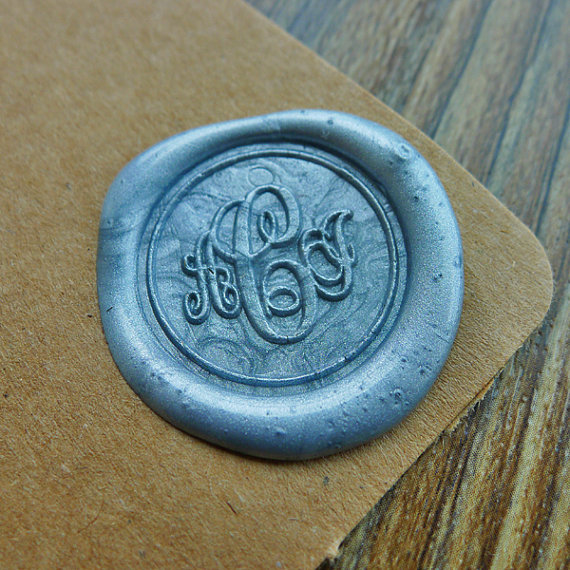 Custom Monogram Wax Seal Stamp Gold Plated Wedding Logo Initials In Stamps From Home Garden On Aliexpress