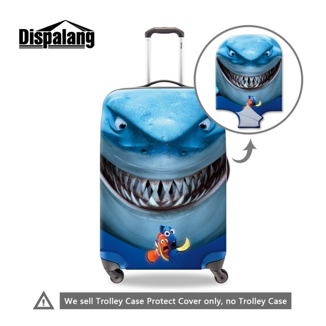 Cute Animal luggage protectors elastic protective suitcase covers luggage rain cover shark trolley case cover for 18-30 inch