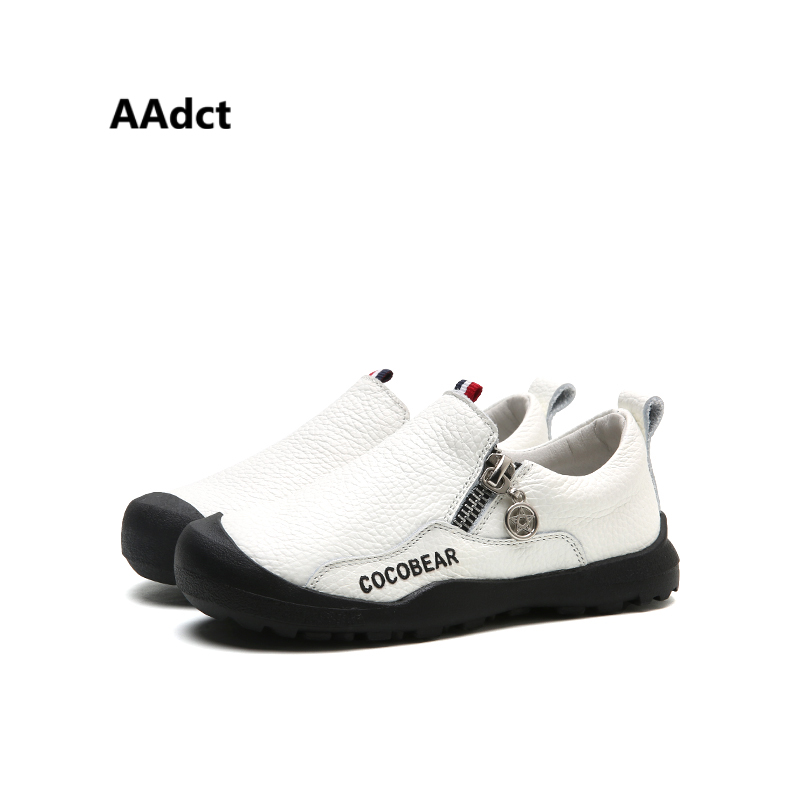 AAdct 2018 spring boys shoes casual little kids shoes for boys Genuine leather Brand new soft inside children shoes High-quality kids shoes 2018 genuine leather spring and autumn zipper rubber kids boys shoes heelys zebra pure color soft 1 6 year girl shoes