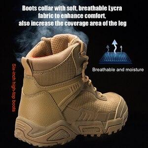 Image 3 - Soldat gratuit sports de plein air camping randonnée tactique militaire hommes bottes chaussures descalade léger botte de montagne