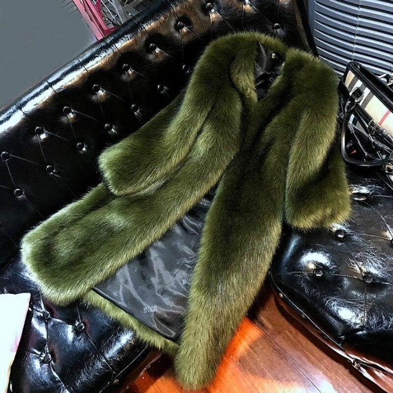 Parka V Longue Chic Le Lapin Grey Col Manteaux Coton Imitation Vison Ol Tops De Renard Veste Fourrure light Plus Black Manteau Faux green Cardigan Tranchée OZTPkwXiu