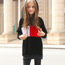 2017 New Yr Woman Autumn Winter Hoodies Tender Velvet Sweatshirt Lengthy Model Cool Heat Children Material For Age eight 9 10 11 12 13 14 15 16