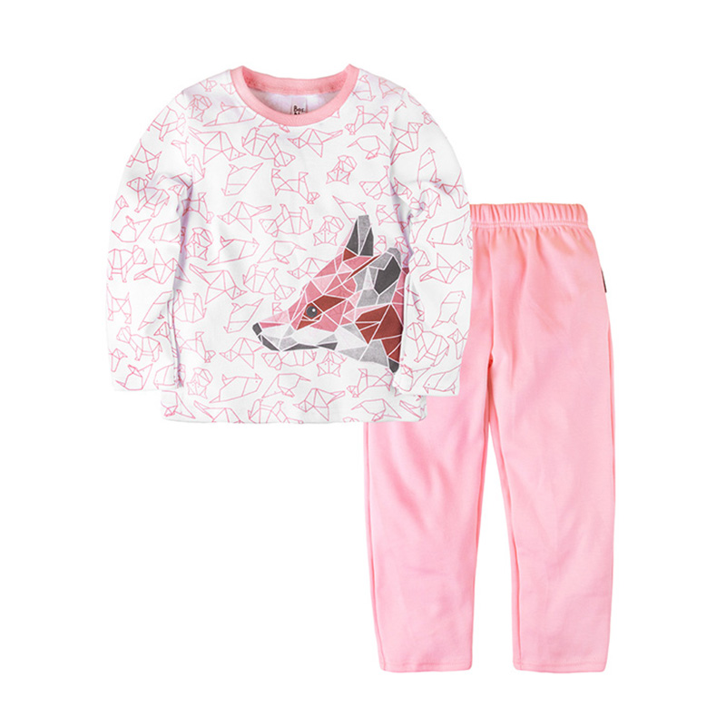 Pajama set shirt+pants for girls BOSSA NOVA 362o-371r kid clothes children clothing heart print tee and striped shorts pajama set