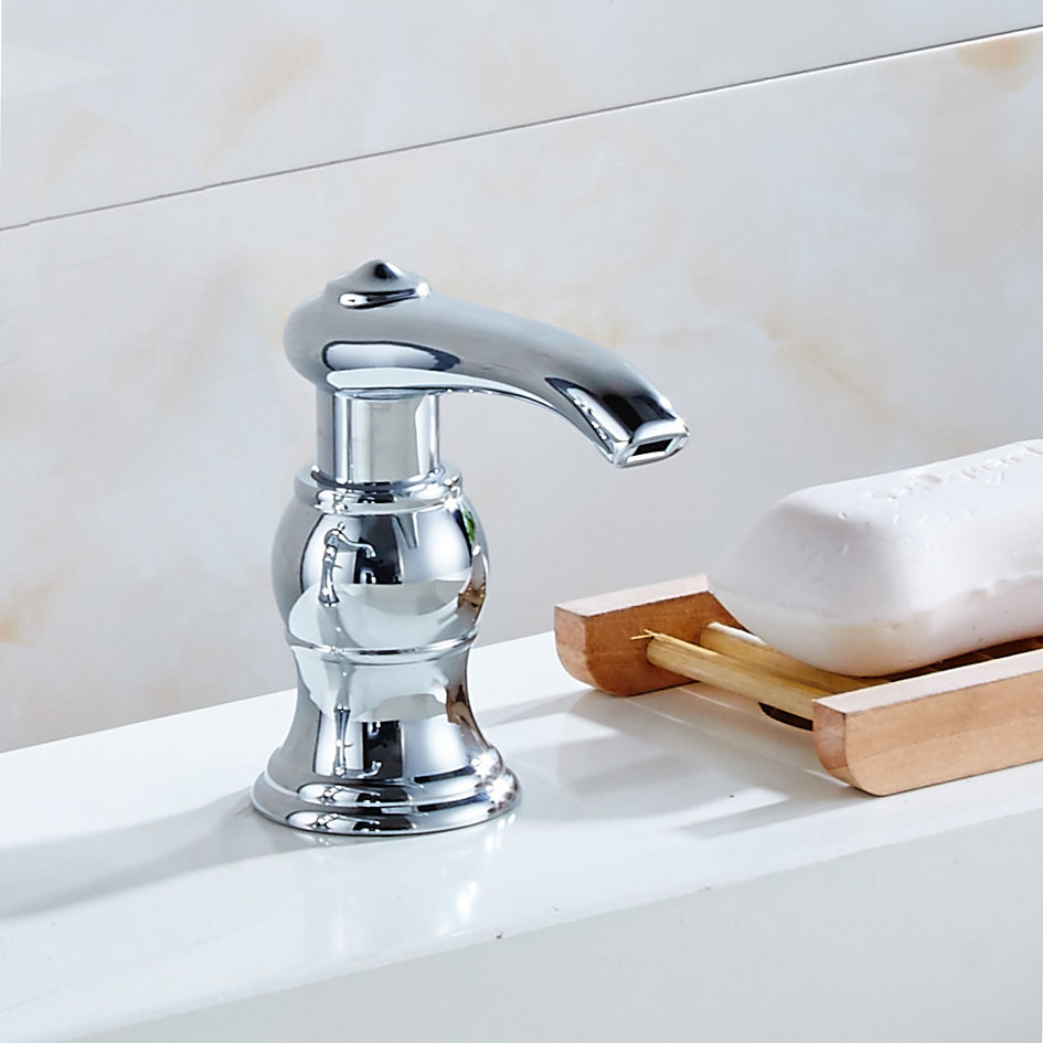 Free Shipping Chrome Golden Soap Dispenser Fit For Kitchen Sink Bathroom Basin 3f1001 In Liquid
