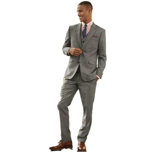 Fashionable Men\'s suits Smoke Grey Men Slim Fits Suits Tuxedos ...