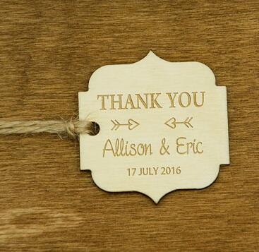 personalized thank you natural wooden rustic wedding new year gift favor tags labels party bridal shower