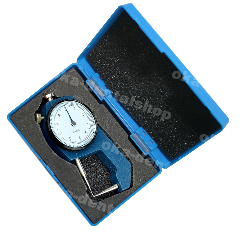 Dental Thickness Gauges Precision 0 To 10*0.1mm Dental Caliper With Watch Metal Portable Mini Thickness Measurement Tool Tester