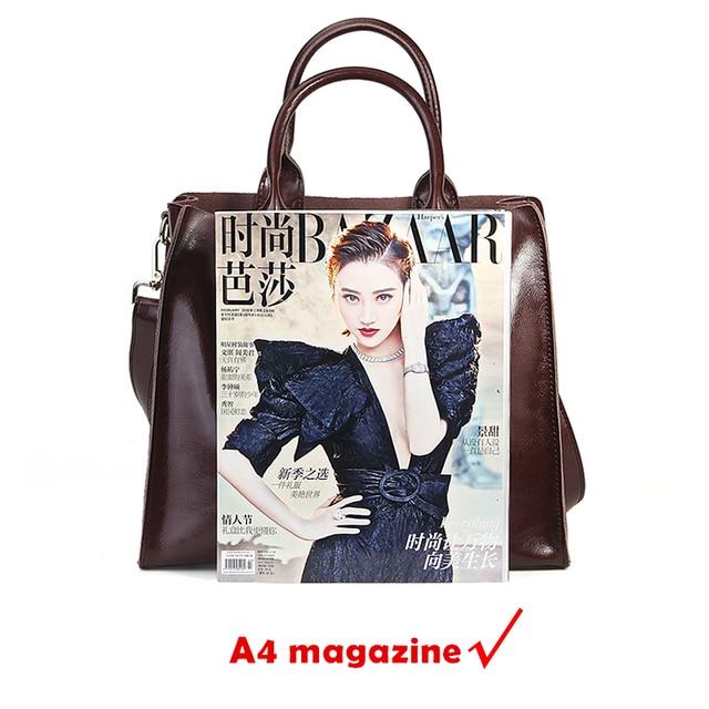 Burminsa Brand Real Leather Handbags Ladies Genuine Leather Tote Hand Bags Female Designer Shopper Shoulder Bags For Women 2019 4