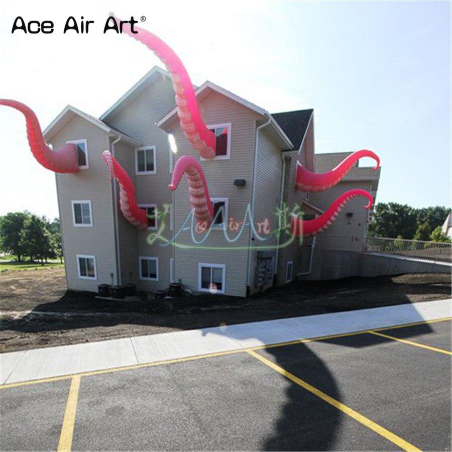 Griffe gonflable géante de Devilfish de décoration de bâtiment, jambes roses d'octupus/monstres de rivière par le concepteur et le fournisseur professionnels