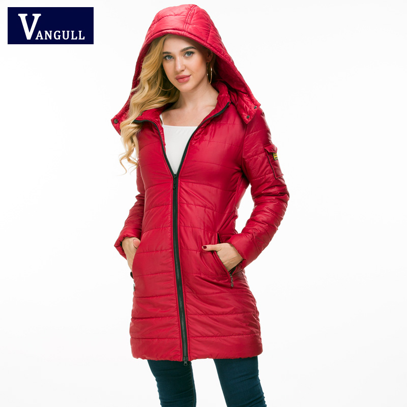 Casual Fashion Women's Clothing 2018 Winter solider zipper thick with warm ladies Coat hooded long sleeve women long slim   Parkas