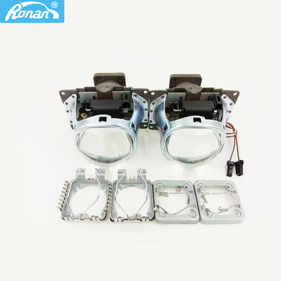 RONAN 2pcs HID Bi Xenon Projector Lens LHD for 3.0 square Koito Q5 35W car headlight Can Use D1S D2S D2H D3S D4S Super Bright цены