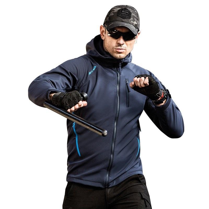 Veste tactique extérieure pour hommes veste militaire imperméable à l'eau à capuche vêtements pour Camping chasse randonnée escalade équitation