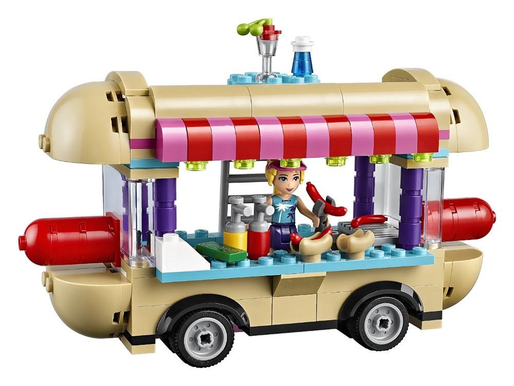 LEPIN Friends Amusement Park Hot Dog Van Building Blocks Classic For Girl Kids Model Toys Marvel Compatible Legoe lepin city police bulldozer break in building blocks sets bricks kids model kids toys marvel compatible legoe