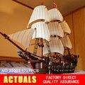 NUEVA LEPIN 22001 Barco Pirata Modelo Kits de Construcción de buques de guerra Imperial Bloque Briks Boy Toys Regalo 1717 unids Compatible 10210