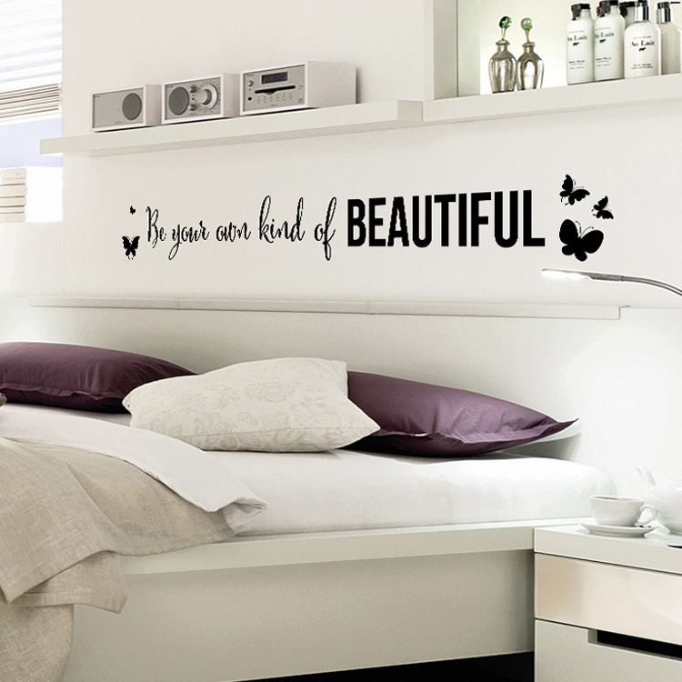 2017 new design proverbs in english beautiful butterfly home decoration wall stickers living for Beautiful wall stickers for living room