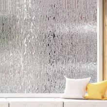 цена на 45 x 300 cm Glass Window foil Film Rain Static Cling Frosted Glass Sticker Privacy decorative Self-Adhesive glass furniture film