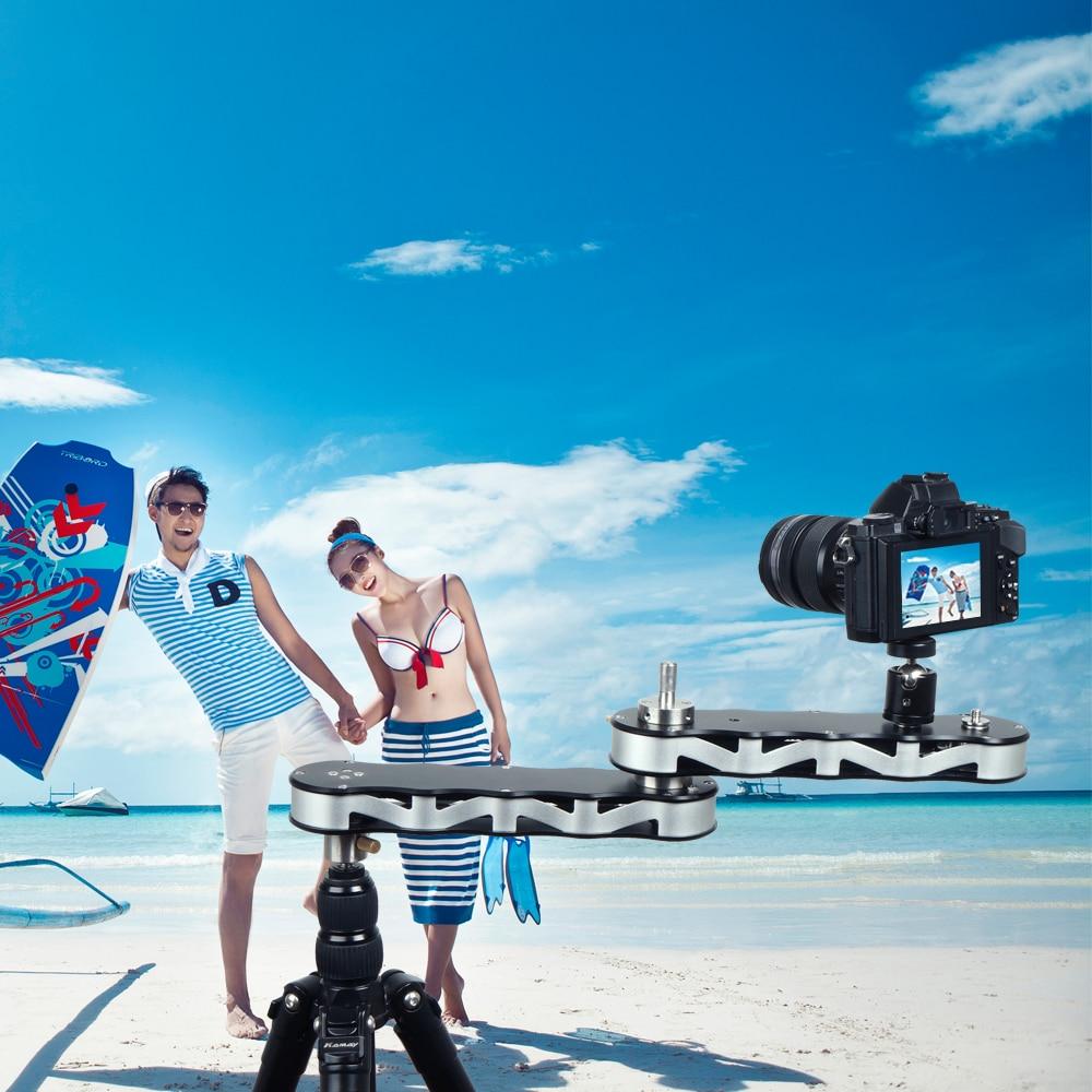 New Commlite 4-times Distance Retractable Mini Aluminum Alloy Video Slider For DSLR Camera Micro Camera Smartphone