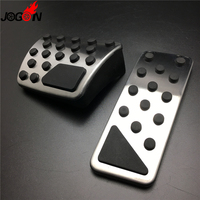 LHD No Drilling AT For Jeep Cherokee KL 2014 2015 2016 2017 Car Fuel Gas Brake Pedal Pad Plate Cover Replace Left Hand Drive