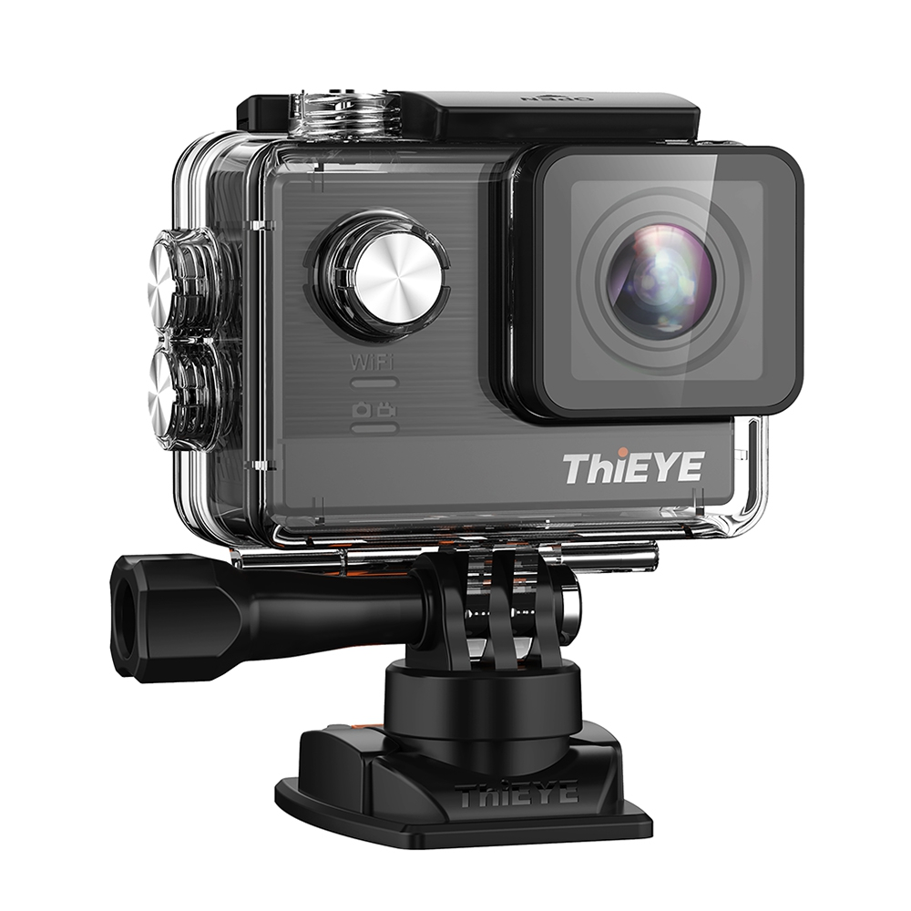 Galleria fotografica ThiEYE T5e WiFi 4K 30fps Action Camera 12MP Built-in 2 inch TFT LCD Screen Time-Lapse Videos Ambarella mini cam original