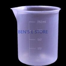 4pcs/lot 250ml Plastic Graduated Beaker Cup Laboratory Chemistry set lab PP beaker